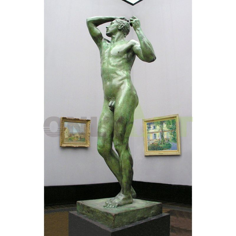 Rodin statue bronze art nude man sculpture