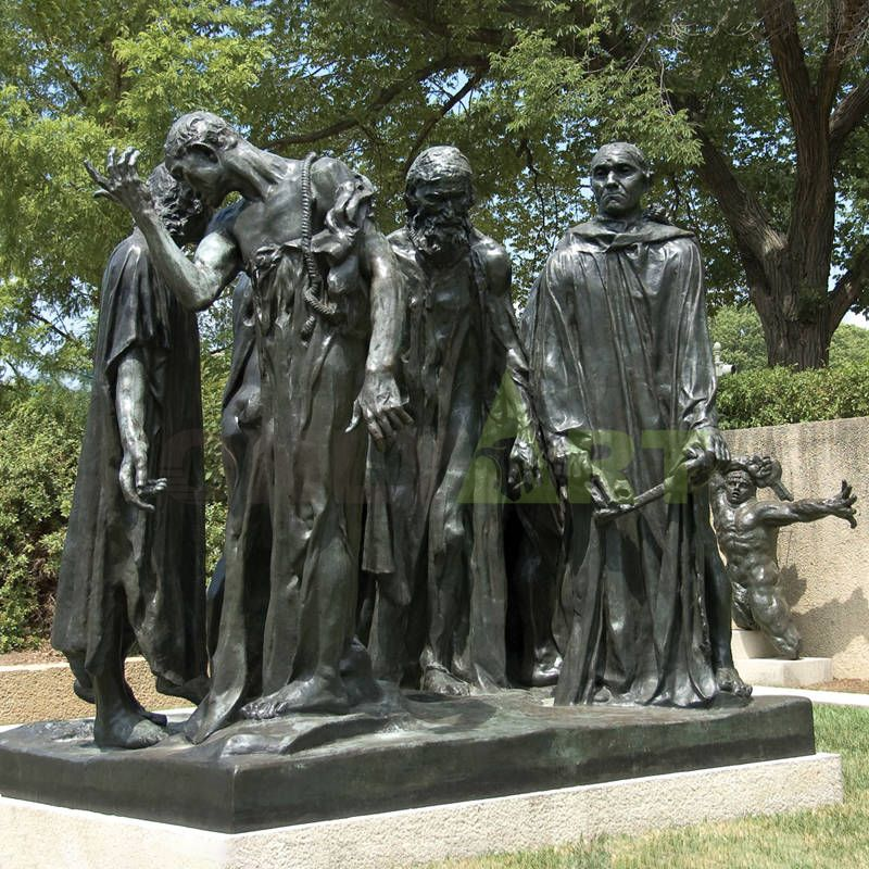 Musee Garden Decoration Large Bronze Figure Las Tres Sombras Sculpture