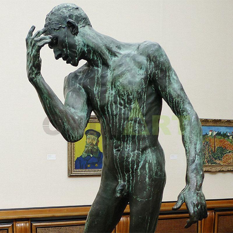 famous bronze sculpture artists metal Life Size bronze Walking Man statue by Auguste Rodin