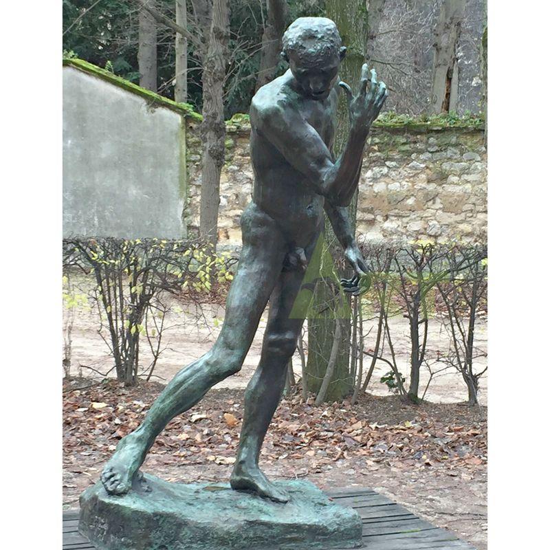 outdoor garden art foundry bronze casting metal Bronze Rodin Walking Man Statue