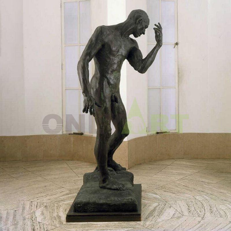 Bronze Art Foundry Reproduction Antique Statue Bronze Rodin Adam Sculpture For Meditation