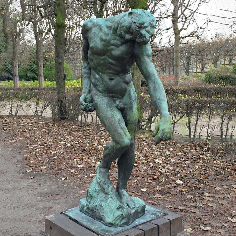 Life Size Fine Cast Solid Bronze Naked Man Rodin Statue