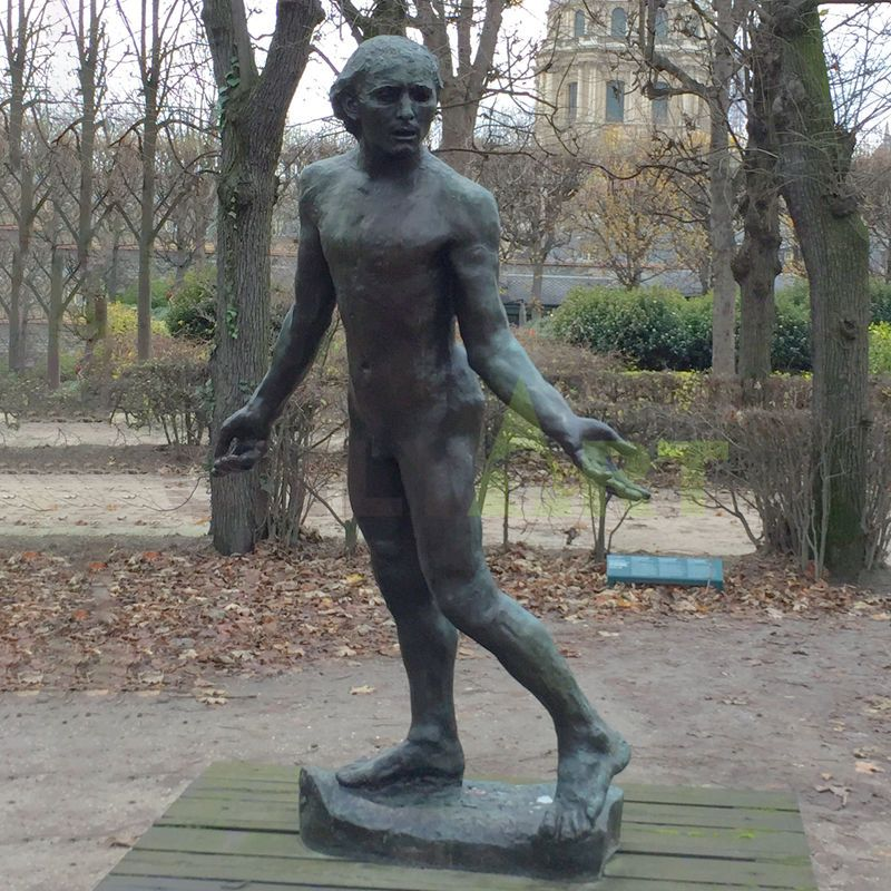 Bronze sculpture of a girl with broken arm designed by Rodin