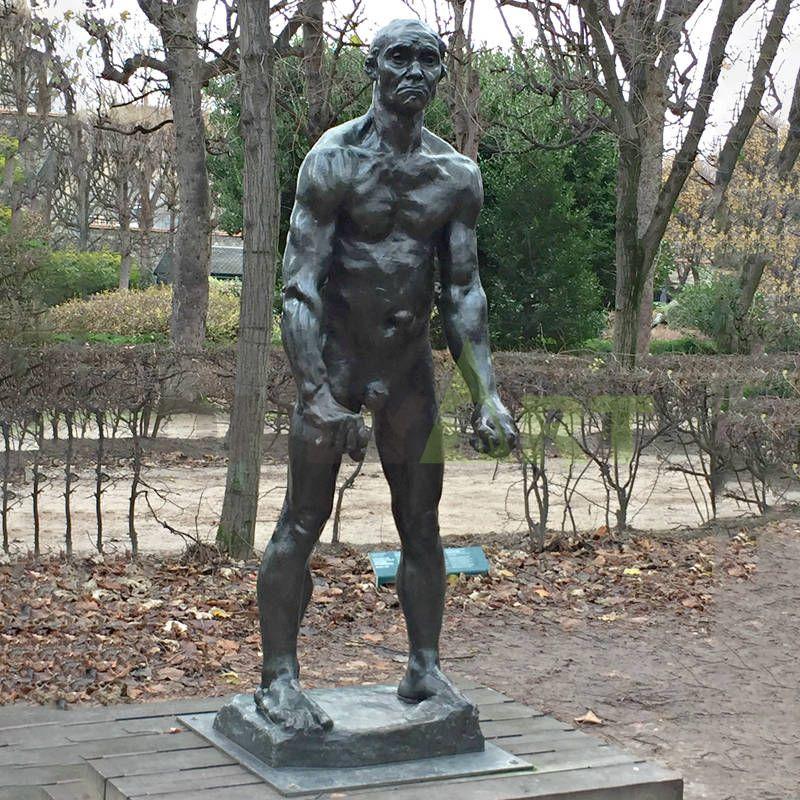 Bronze Sculpture ReproductionsClassical Life Size Bronze Rodin Walking Man Statue