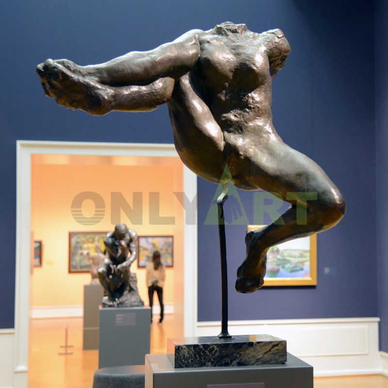 Modern home garden decoration bronze figure sculpture life size brass copper nude woman and man statue the Kiss statue by Rodin