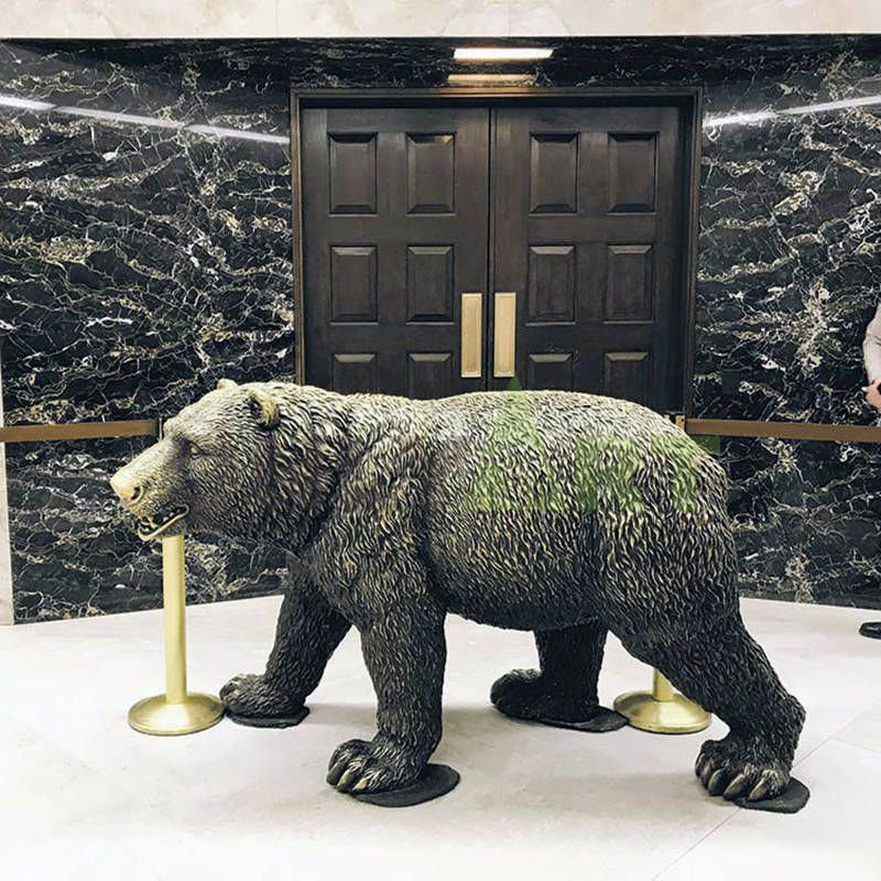 Life Size Bronze Bear Statue Outdoor Antique Animal Statue for Sale for Garden Decor