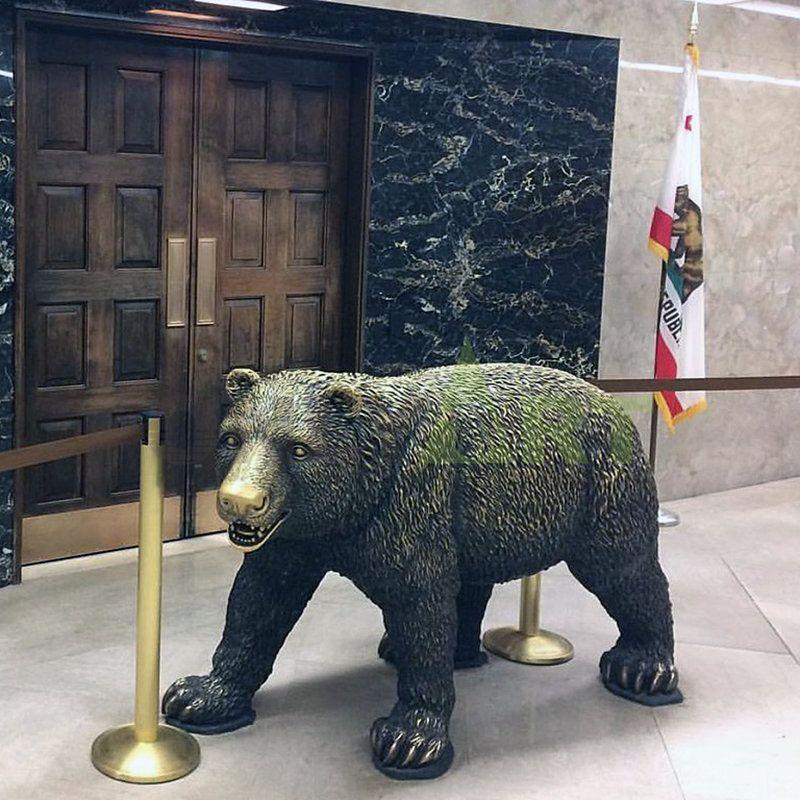 Factory cheap price brass bronze bear sculpture statue