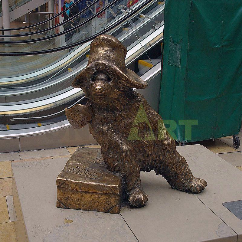 Popular Bronze Life Size Garden Decoration Bear Walking Statue