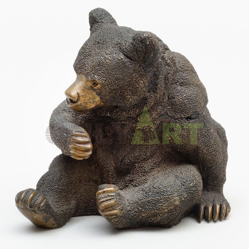 Custom bronze life size polar bear statue