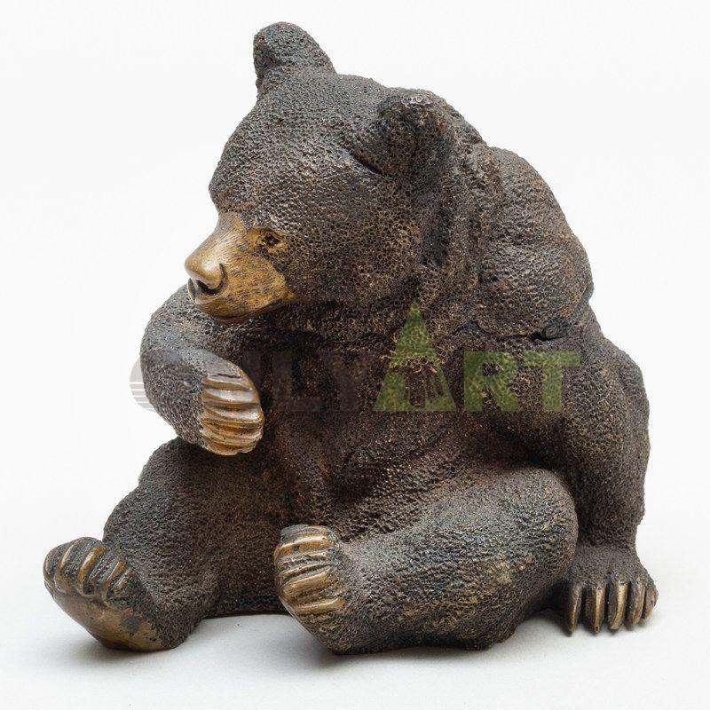 Customized bronze sculpture bear animal statue for garden