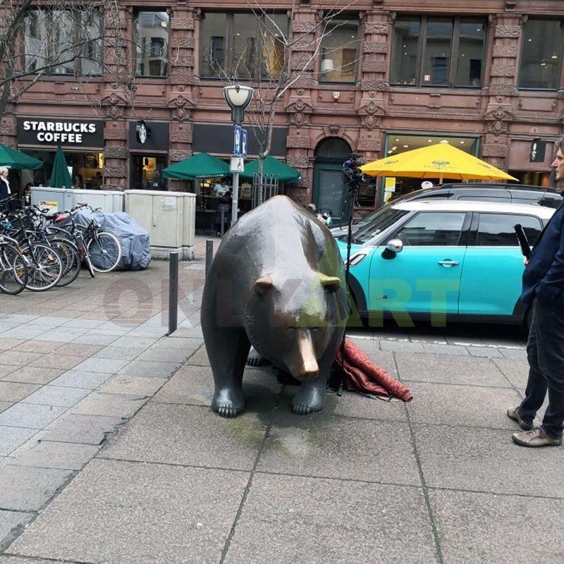 Life Size Bronze Bear Statue