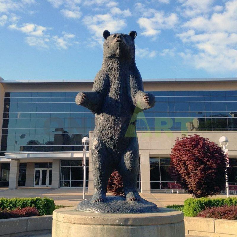 3D Bear Animal Antique Brass Figurines Bronze Statue