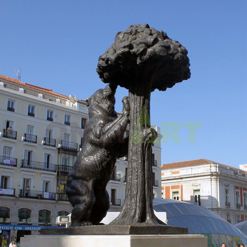 Garden Decor Metal Cast Life Size Bear Statue Bronze Animal Sculpture for Sale