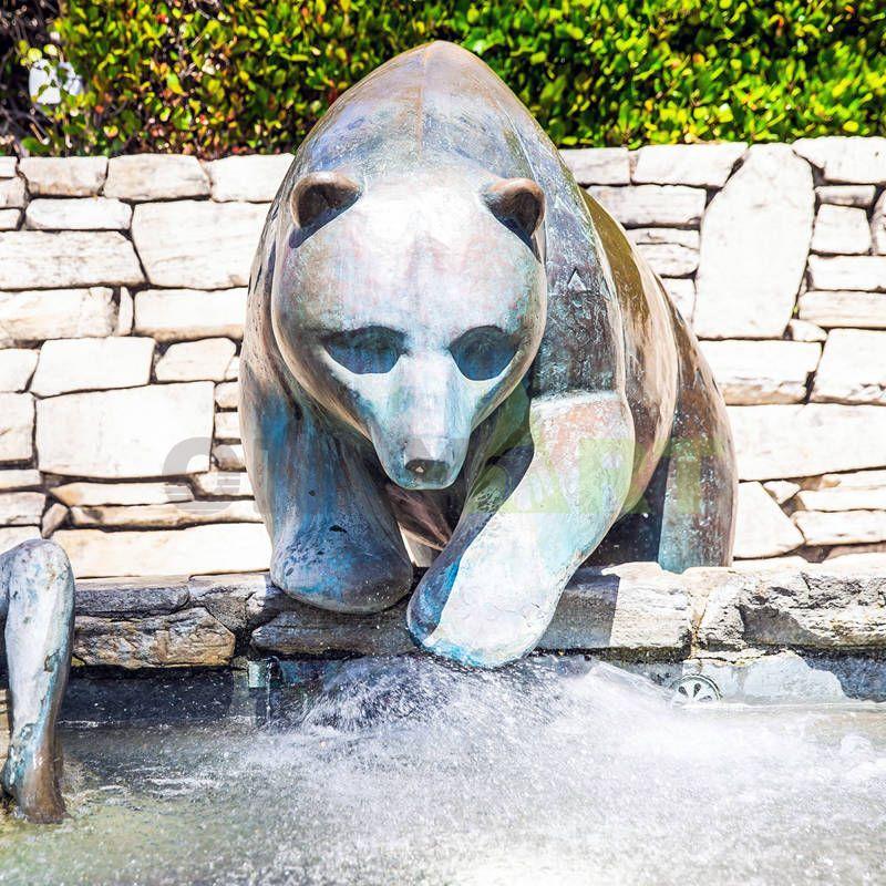 Garden Decoration Bronze Bear Statue Metal Animal Sculpture for Sale
