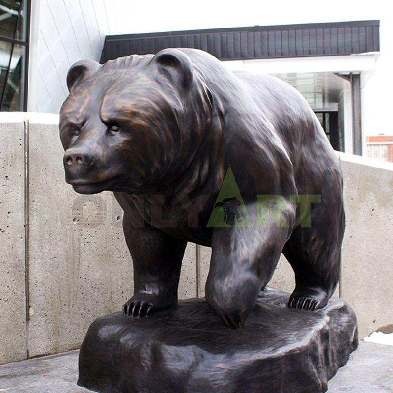 Large Wild Animal casting bronze bear sculpture statue