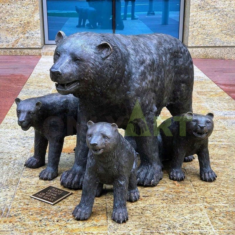 Best quality life size bronze bear statue for sale
