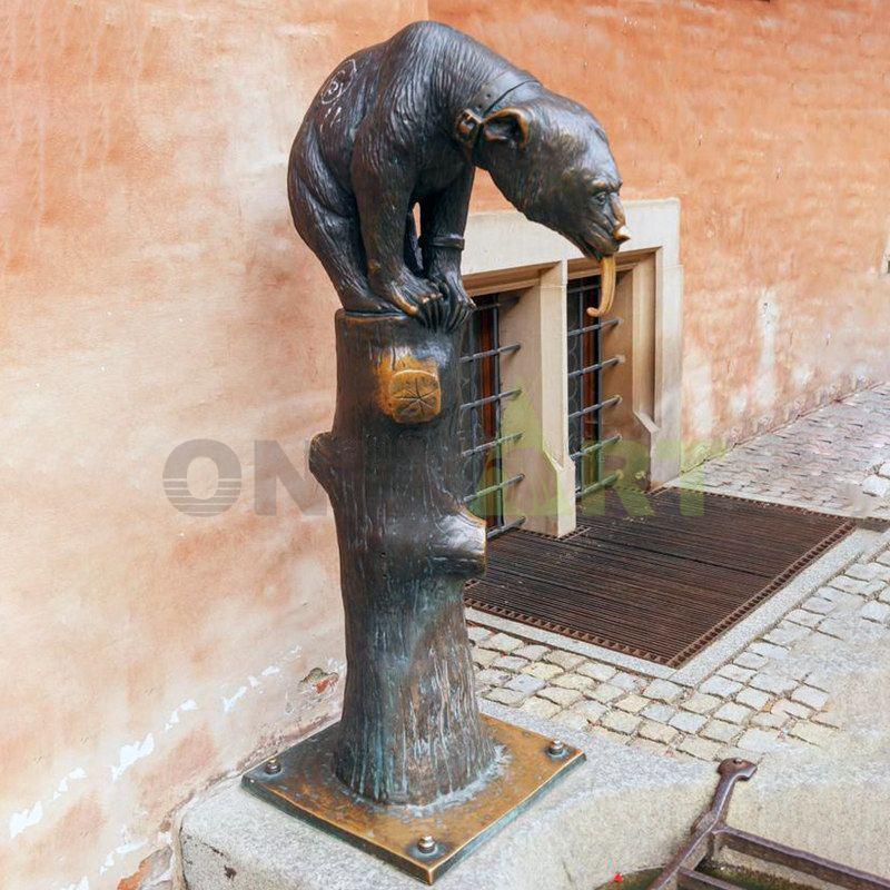 High quality bronze life size bear statue