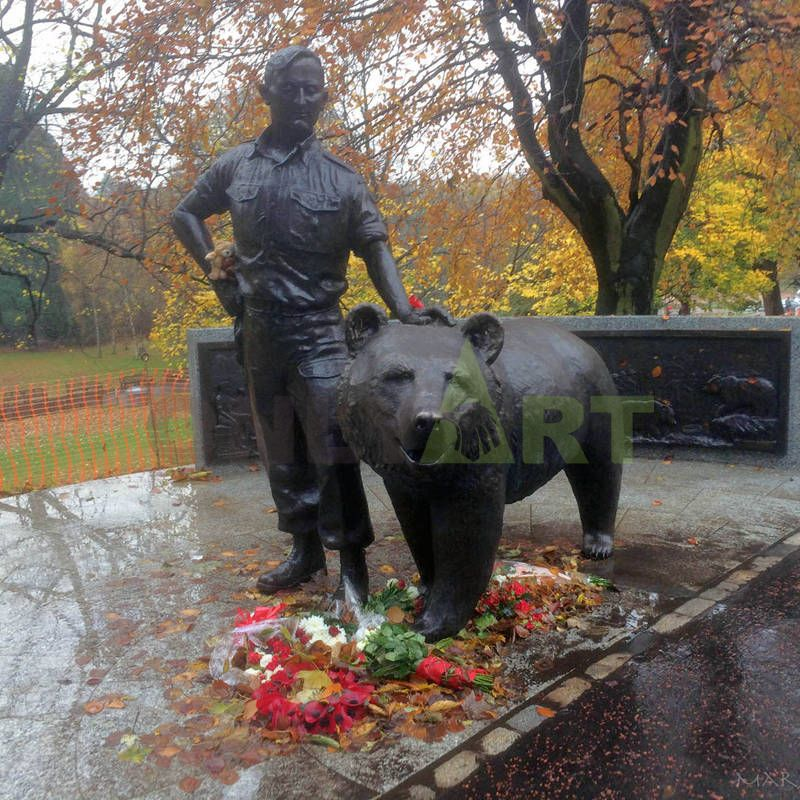 life size polar bear statues bronze garden decoration