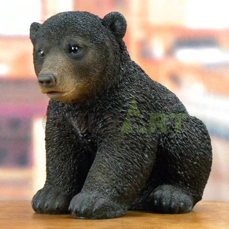 Bronze craft casting roaring life size grizzly bear statue for cottage decor