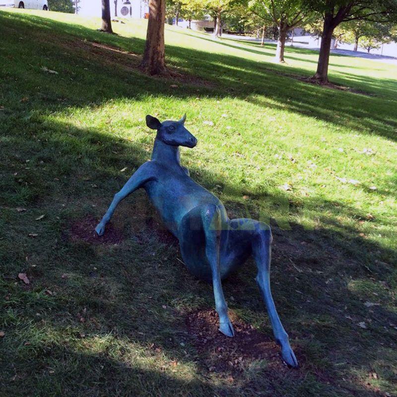 deer wild bronze animal sculpture for sale