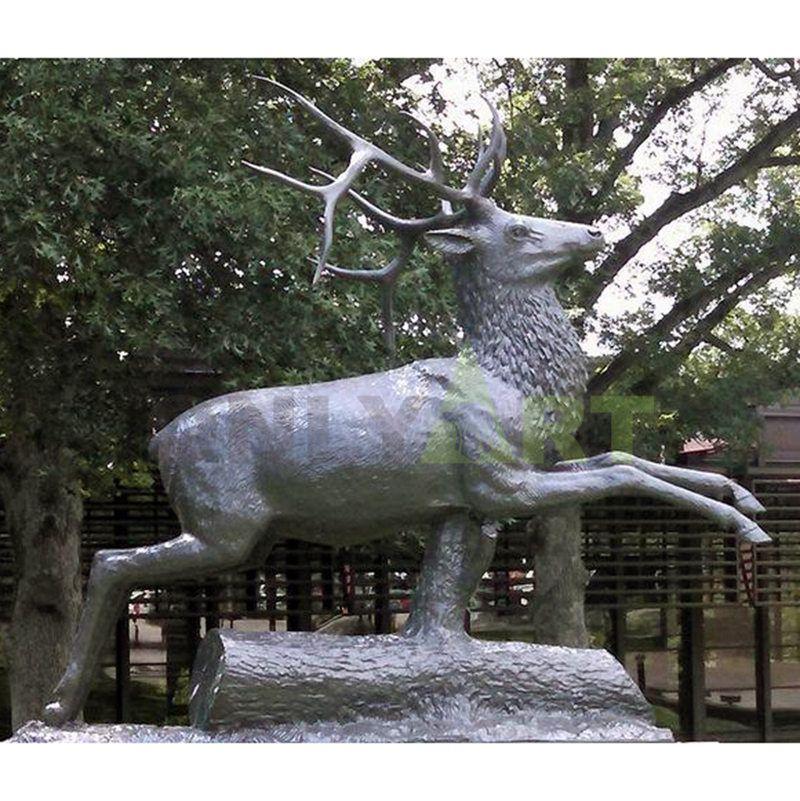 decorative crafts bronze deer family figurines statue sculpture