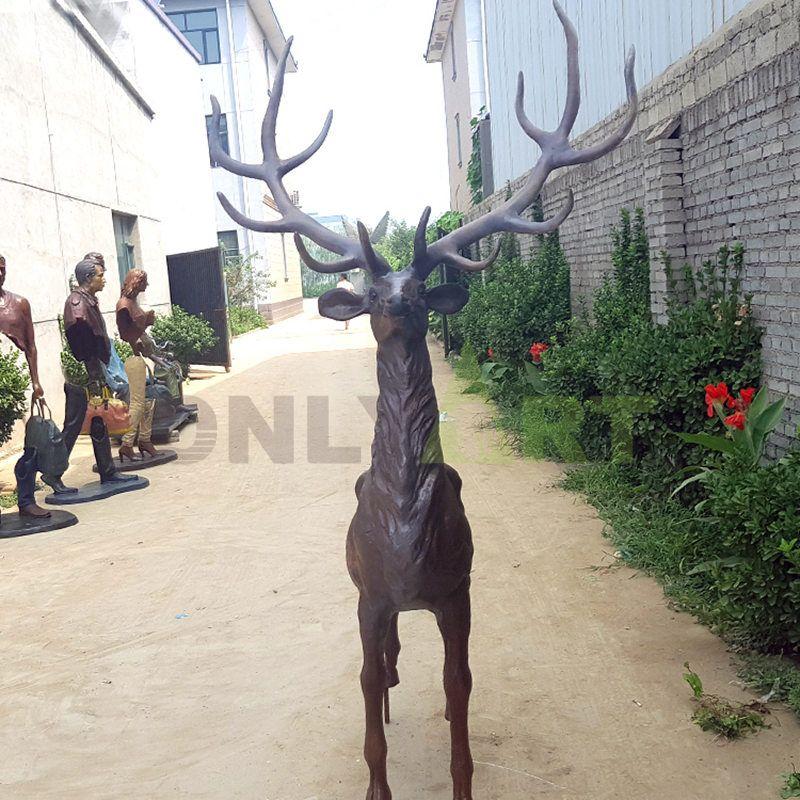 life size hot sale garden Bronze Deer Statue for sale