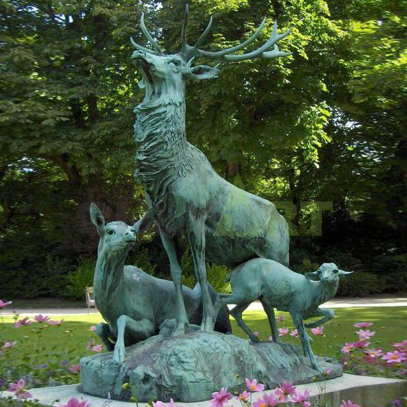 life size sale garden Bronze Deer Statue for sale
