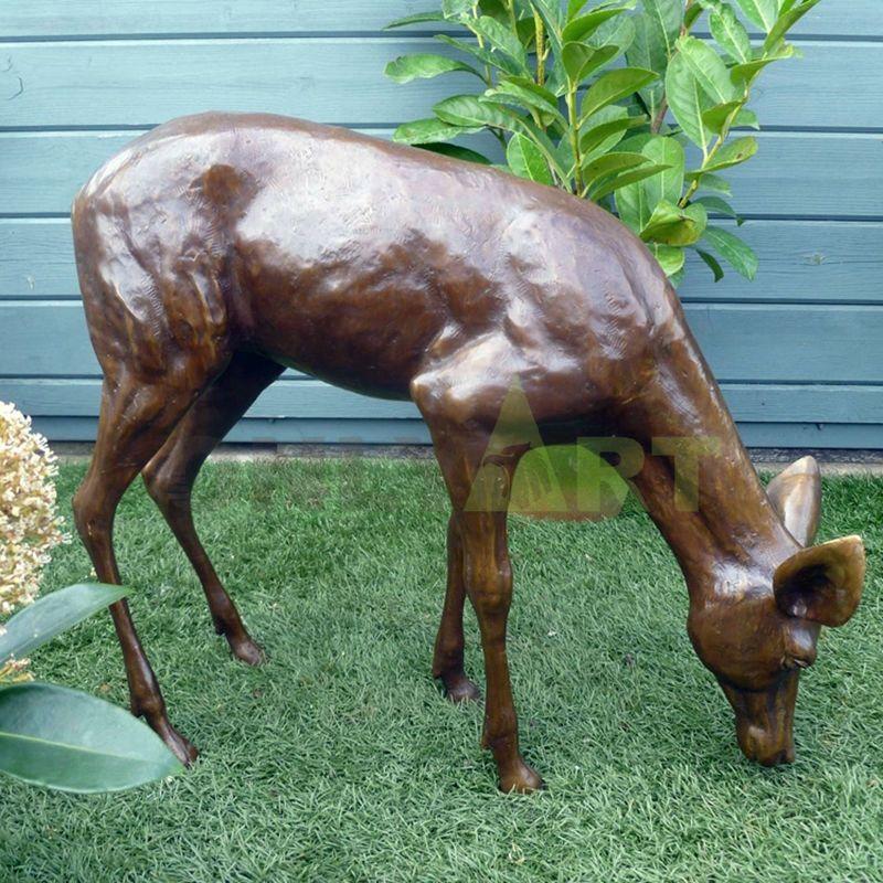 decorative crafts bronze deer figurines statue sculpture