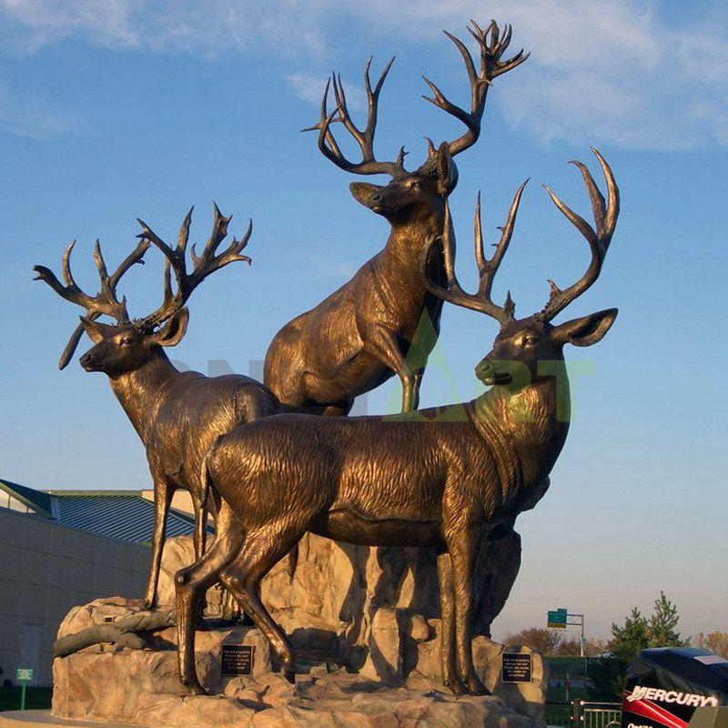 Daxinganling National Forest Park deer sculpture Stock
