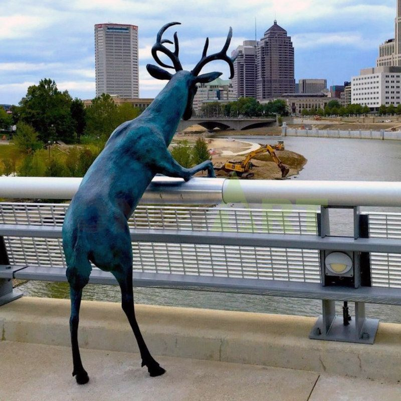 Outdoor art animal-crafts casting kind of deer bronze sculpture for ornaments