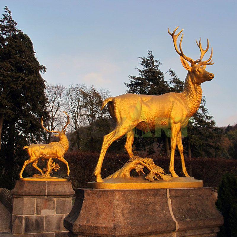 Classic Design Life Size Garden Bronze Deer Sculpture
