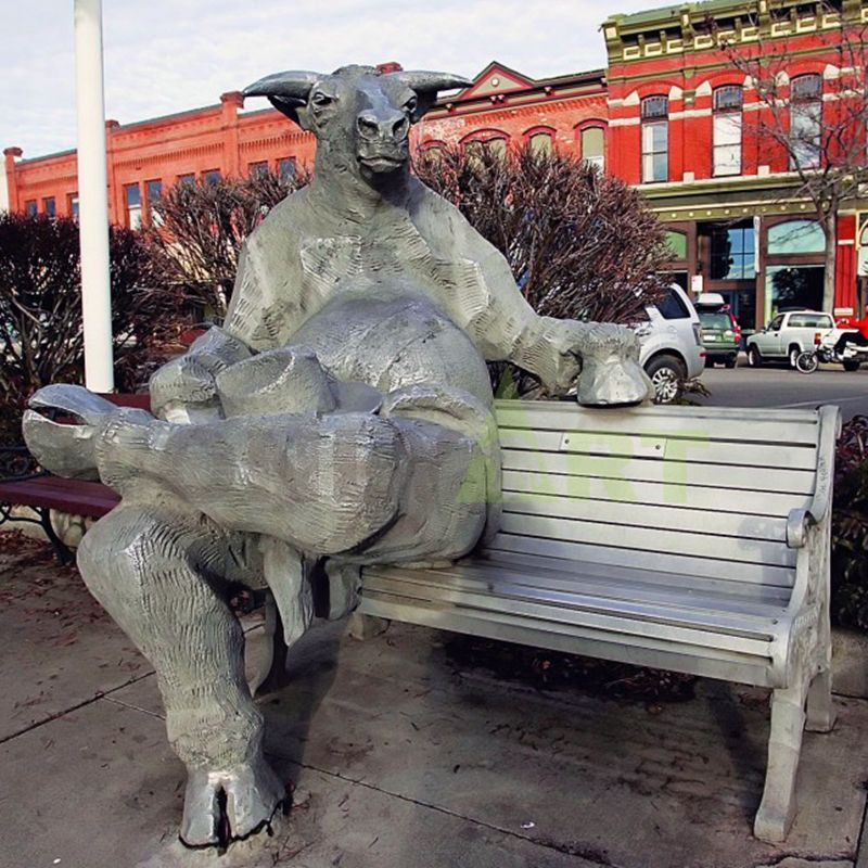 Professional Bronze Foundry Brass Fighting Bull Statue Bullfight Sculpture