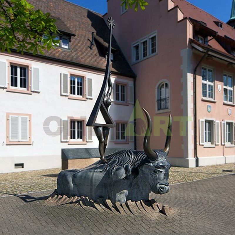 outdoor life size bronze bull statue for outdoor decoration