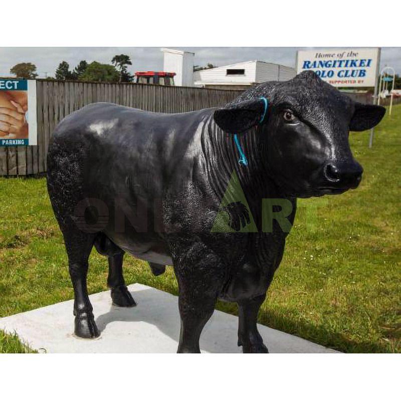 SHTONE Bull Abstract Bronze Sculpture