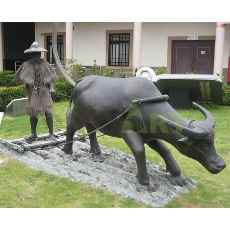 life size outdoor bronze bull sculpture for sale