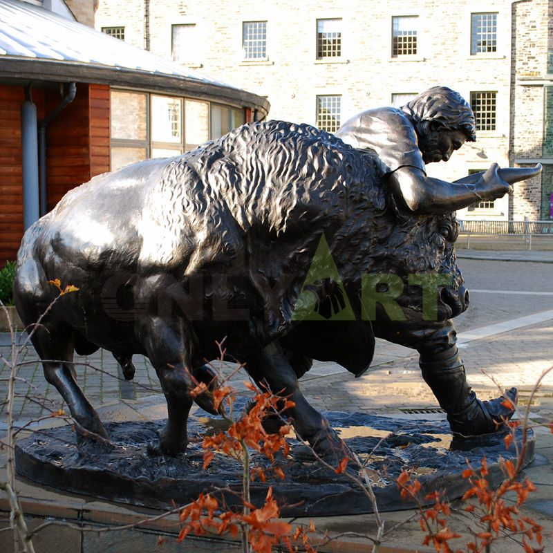 foundry Large Copper Outdoor Sculpture Life Size Bronze Wall Street Bull Statue