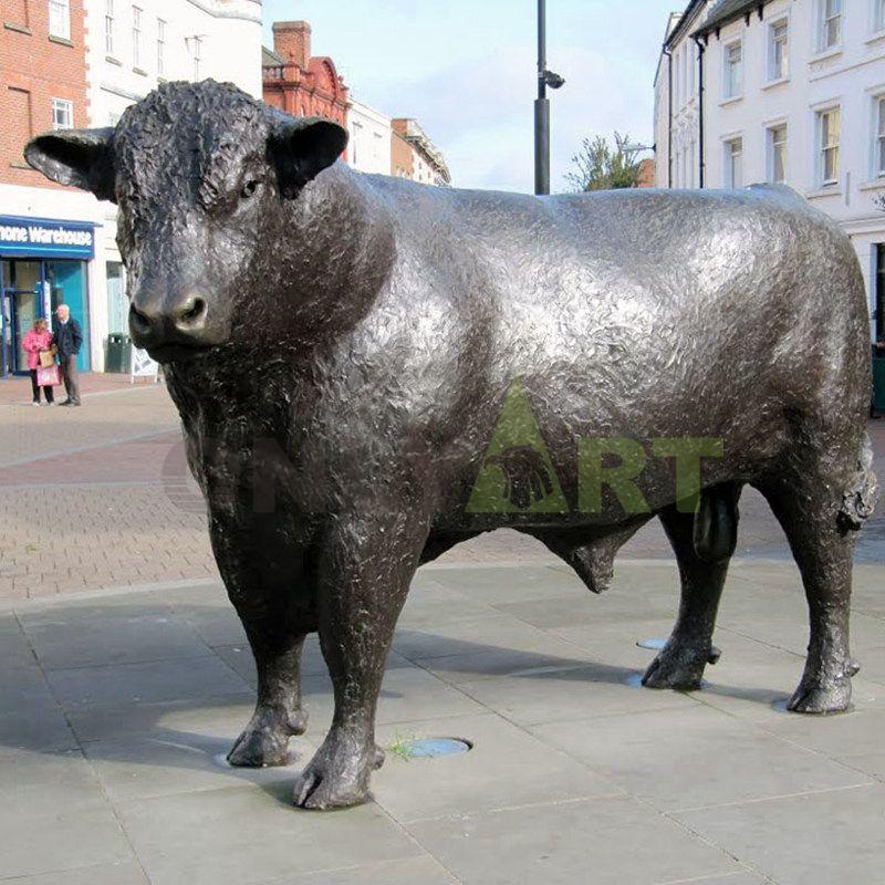 Decorative bull statue bronze copper animal big cow sculpture