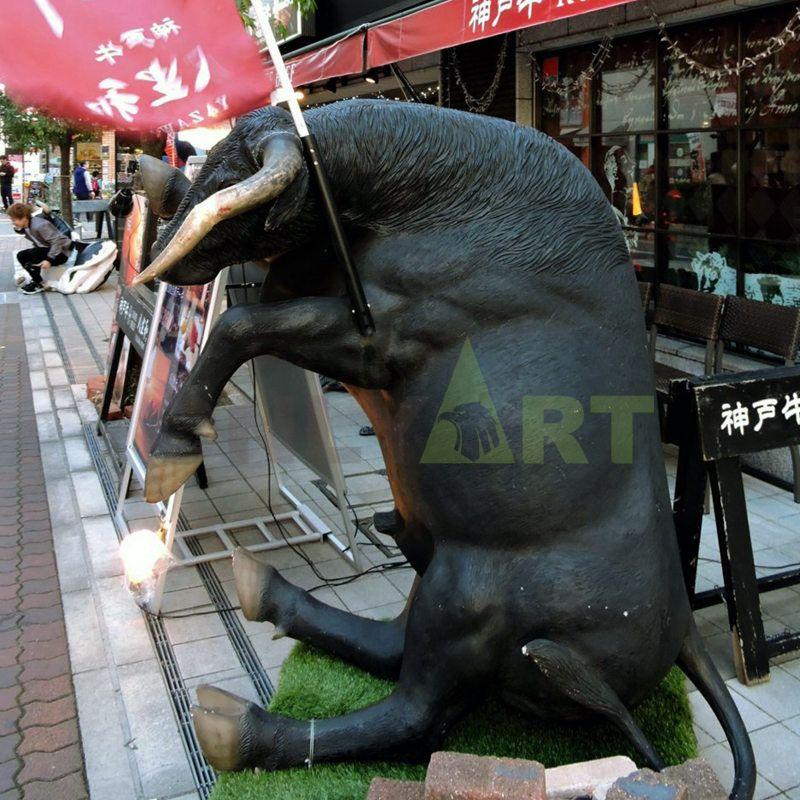 Outdoor Bronze Sculpture of Life Size Wall Street Bull Statue