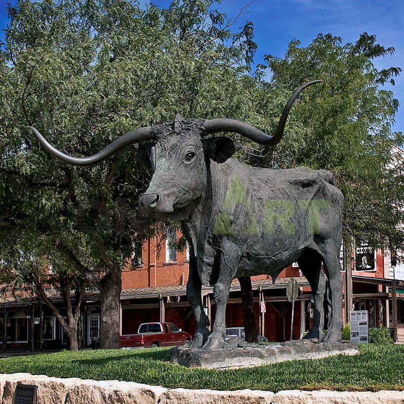 wall Street Bronze animal bull OX Statue outdoor sculpture