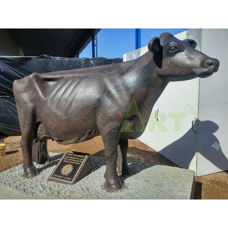 Famous Outdoor Wall Street Charging Bull Bronze Sculpture Cattle Statue