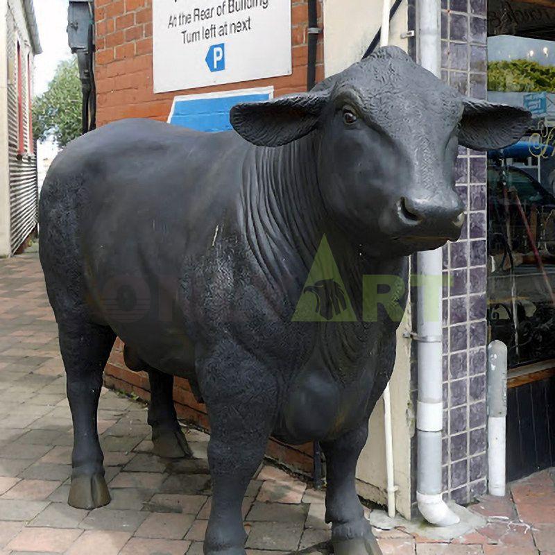life size bronze wall street bull statues