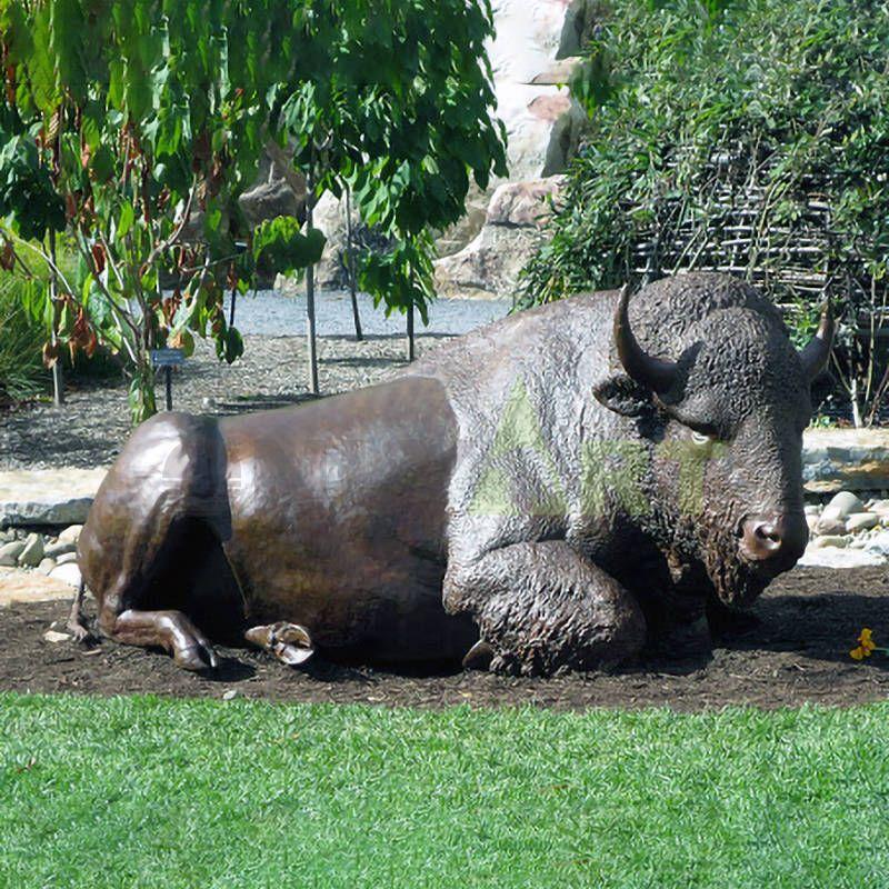 Bronze statue of angel ox