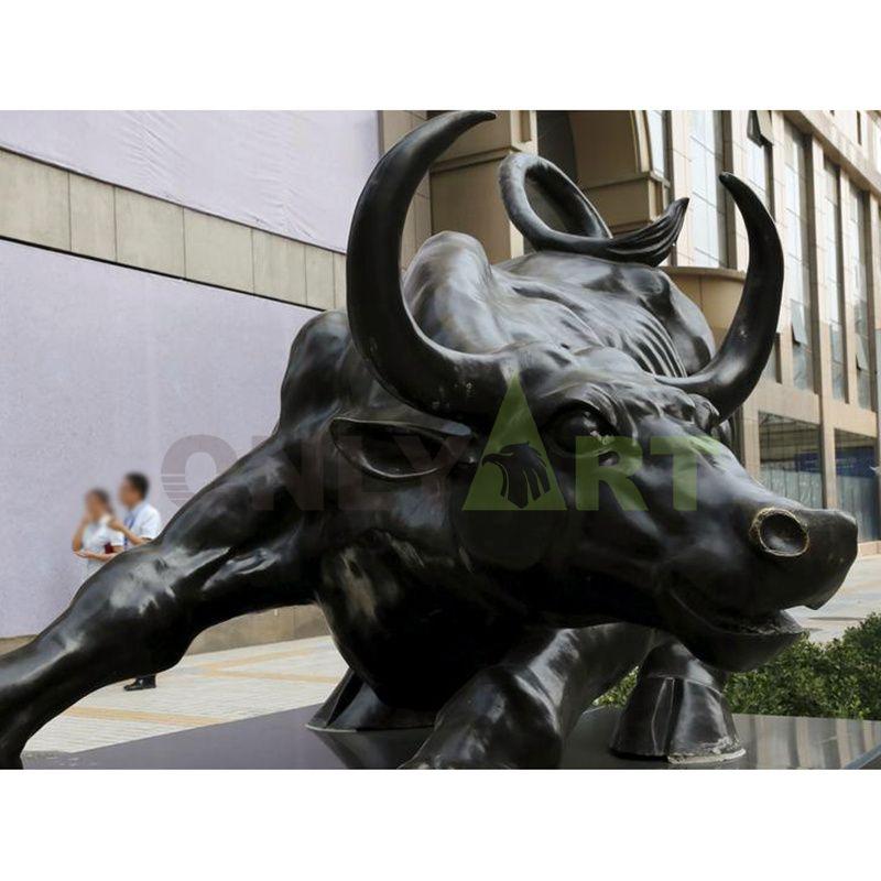 Hot Sale Modern Outdoor Abstract Cast Bronze Bull Sculpture