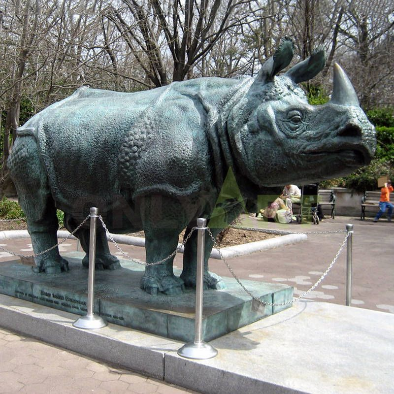 high quality small size metal arts rhinoceros statue sculpture
