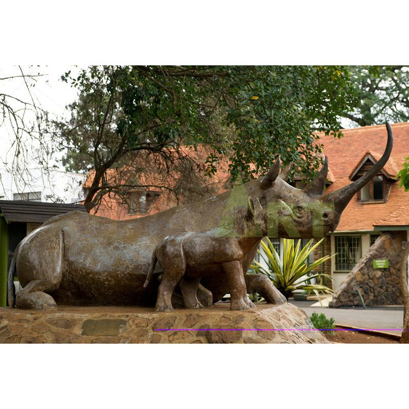 abstract Rhino sculpture for museum