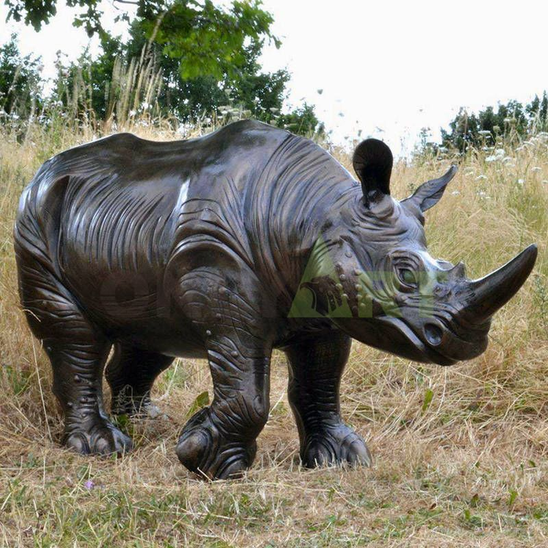 Life Size Outdoor Animal Rhino Statues For Sale