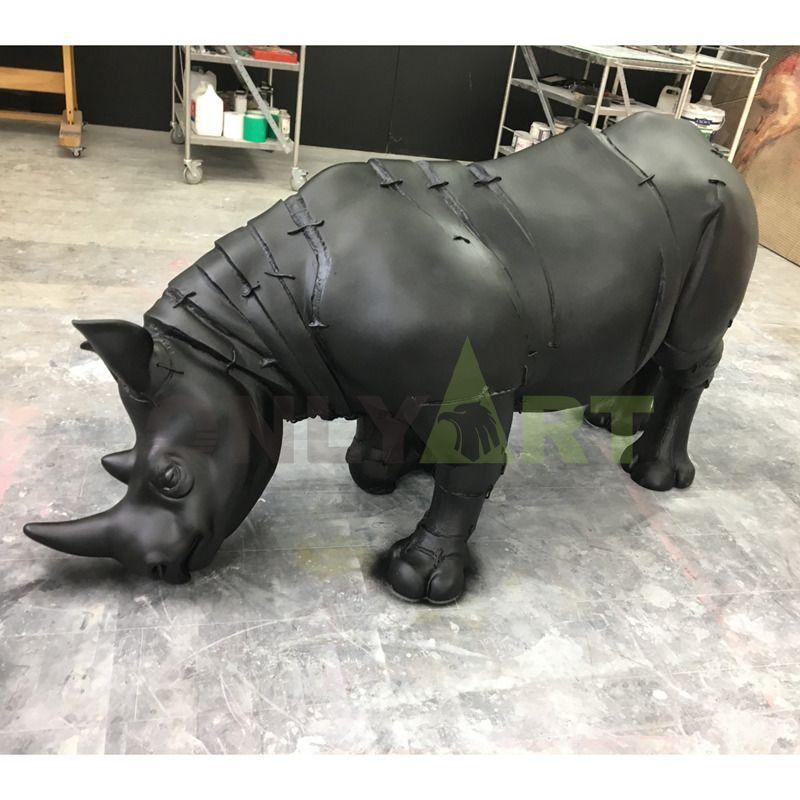 Outdoor Bronze Life Size Rhino Statue