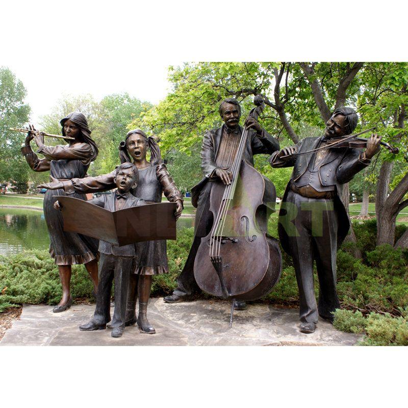 Outdoor garden music family's family choir