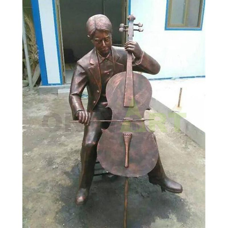 Chinese supplier bronze musician statues