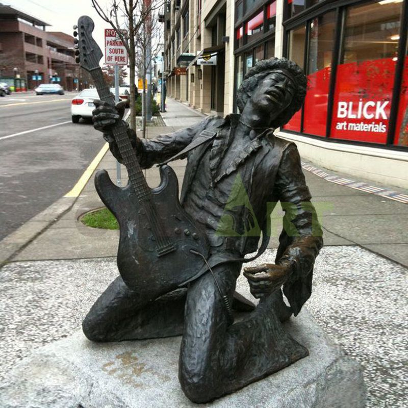 Hot Sale Personalized Handmade bronze musician statues